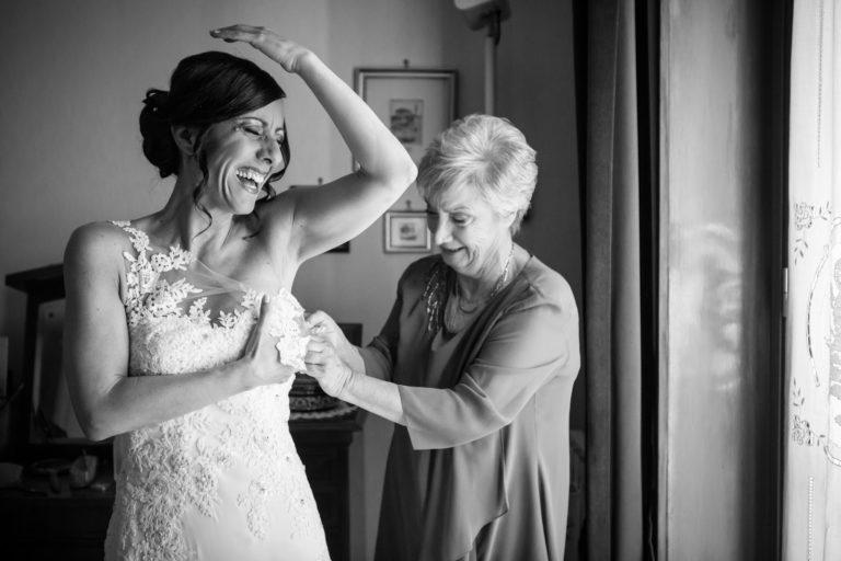 La mamma della sposa. Emozione infinita.