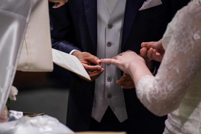 Scambio degli anelli matrimonio